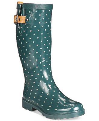 Chooka Classic Dot Rain Boots - Boots - Shoes - Macy's