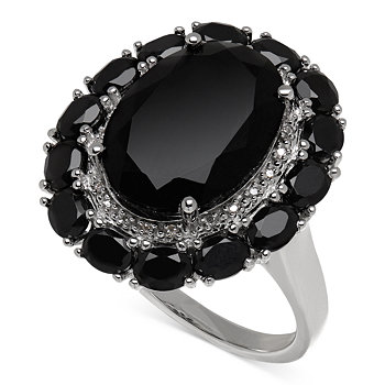 Macy's Onyx 20-4/5 ct. t.w. and Diamond Accent Ring