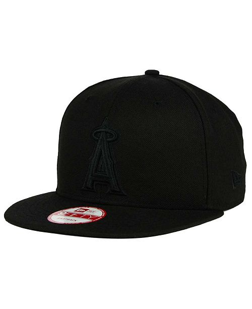 New Era Los Angeles Angels of Anaheim Black on Black 9FIFTY Snapback Cap