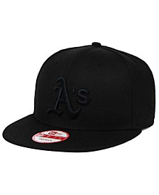 Oakland Athletics Black on Black 9FIFTY Snapback Cap