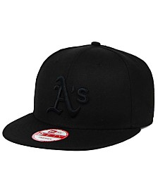 New Era Oakland Athletics Black on Black 9FIFTY Snapback Cap