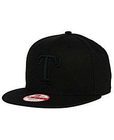 New Era Texas Rangers Black on Black 9FIFTY Snapback Cap