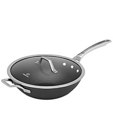 "Signature Nonstick 12"" Flat-Bottom Wok with Cover"