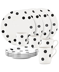kate spade new york all in good taste Deco Dot 12-Pc. Set, Service for 4
