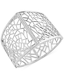 Geo by EFFY Diamond Openwork Bangle (1/5 ct. t.w.) in Sterling Silver