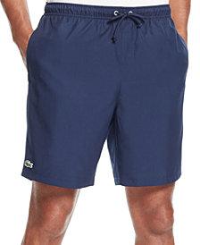 "Lacoste Men's Diamante-Print 8"" Sport Drawstring Shorts"
