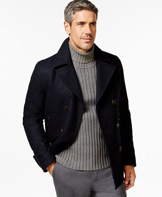 Mens Pea Coat Wool - Tradingbasis
