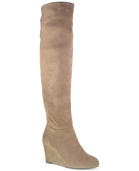 Chinese Laundry Unbelievable Over the Knee Wedge Boots