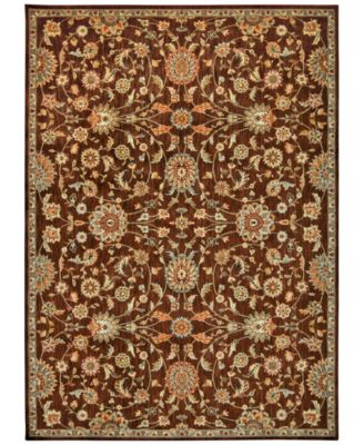 "Home Ancient Times Ancient Treasures Brown 5'3"" x 7'5"" Area Rug"