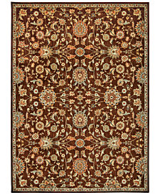 "kathy ireland Home Ancient Times Ancient Treasures Brown 7'9"" x 10'10"" Area Rug"