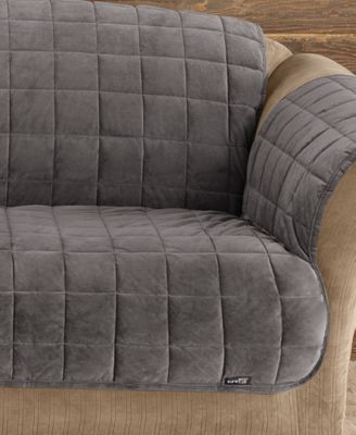 Antimicrobial Deluxe Comfort Quilted Loveseat Furniture Protector Sable - Sure Fit