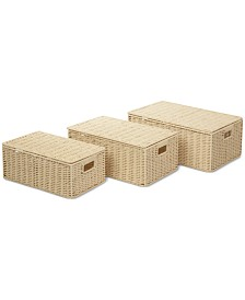 Honey Can Do 3-Pc. Paper Rope Basket Set