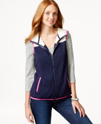 Tommy Hilfiger Hooded Contrast Vest & Tote Bag