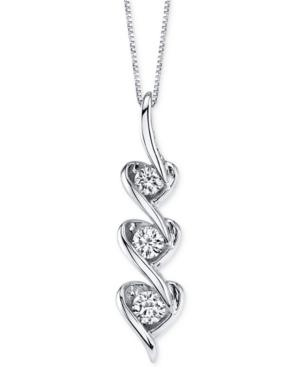 Sirena Diamond Heart Pendant Necklace in 14k White Gold (1/5 ct. t.w.) -  Macy's