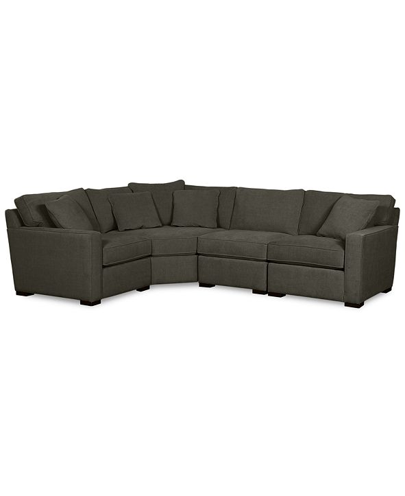 Furniture Radley Fabric 4-Piece Sectional Sofa, Created for Macy's