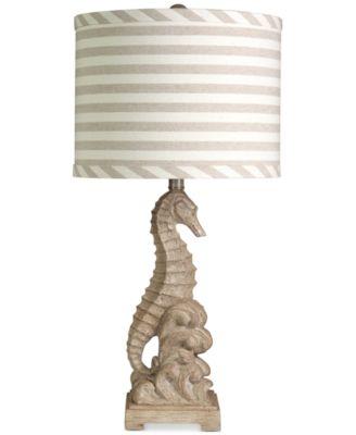 StyleCraft Sandy Seahorse Table Lamp