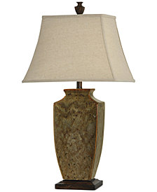 StyleCraft Earth Tone Ceramic Table Lamp