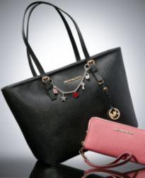 MICHAEL Michael Kors Jet Set Travel Tote, Continental Wallet and Mini Bag Charm Gift Set
