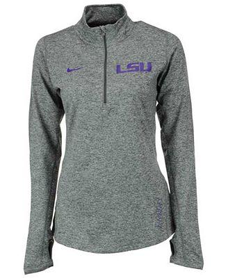 Nike Women's LSU Tigers Stadium Element Quarter-Zip Pullover ...