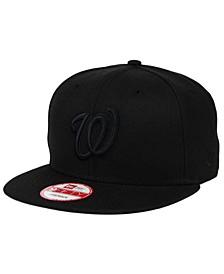 Washington Nationals Black on Black 9FIFTY Snapback Cap