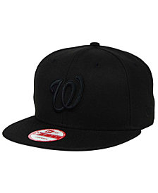 New Era Washington Nationals Black on Black 9FIFTY Snapback Cap