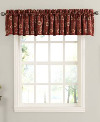 "Rowan All Over Circle Pattern Room Darkening 54 x 18"" Valance"