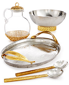 Michael Aram Palm Serveware Collection