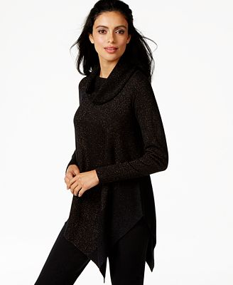 Alfani Asymmetrical-Hem Cowl-Neck Sweater, Created for Macy's ...