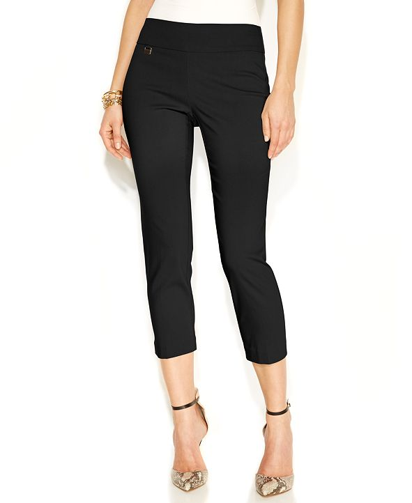 Alfani Tummy-Control Pull-On Capri Pants, Regular & Petite Sizes, Created for Macy's