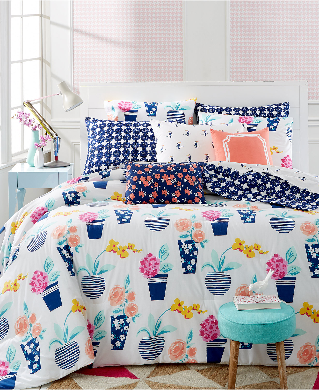 Macy Bedroom Furniture Closeout Closeout Whim By Martha Stewart Collection Pretty In Pots Bedding