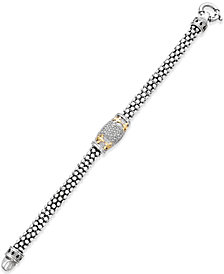Diamond Fleur De Lis Bracelet (1/4 ct. t.w.) in 14k Gold-Plated Sterling Silver