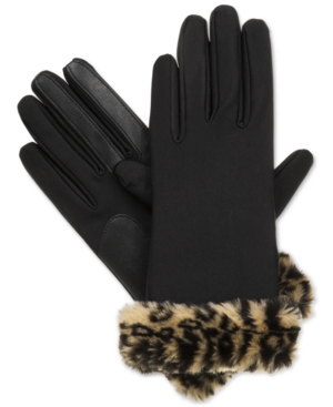 Vintage Gloves – Styles from 1900 to 1960s Isotoner Signature Boxed Fur Cuff Spandex SmarTouch Tech Gloves $12.50 AT vintagedancer.com