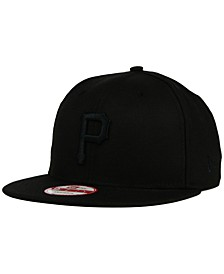 Pittsburgh Pirates Black on Black 9FIFTY Snapback Cap