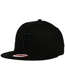 New Era Pittsburgh Pirates Black on Black 9FIFTY Snapback Cap