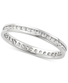 Diamond Channel Set Eternity Band (1/2 ct. t.w.) in 14k White Gold