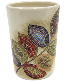 Croscill Bath Mosaic Leaves Tumbler