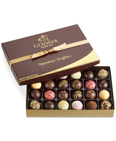 Godiva 24-Pc Signature Truffle Gift Box