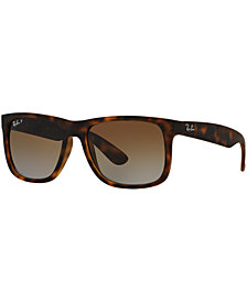 Ray-Ban Polarized Sunglasses, RB4165 JUSTIN GRADIENT