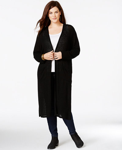 Ing Trendy Plus Size Duster Cardigan Tops Plus Sizes