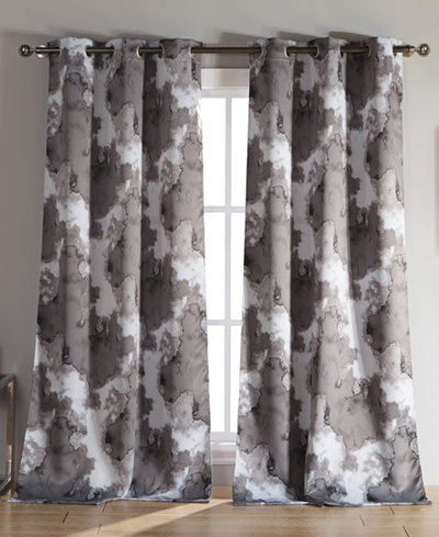 Curtains Ideas 54 curtain panels : Kensie Home Kittalilly Thermal Blackout Pair of 54 x 84