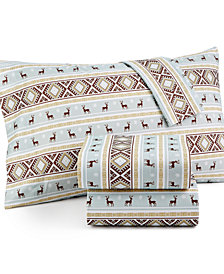 Micro Flannel Printed Queen 4-pc Sheet Set