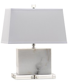 Decorator's Lighting White Marble Crystal Table Lamp