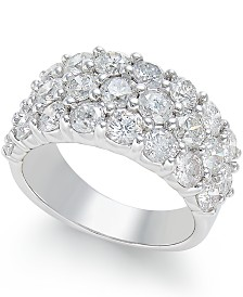 Diamond Three Row Band (4 ct. t.w.) in 14k White Gold
