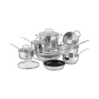 14-Pc. Cuisinart Steel Cookware Set