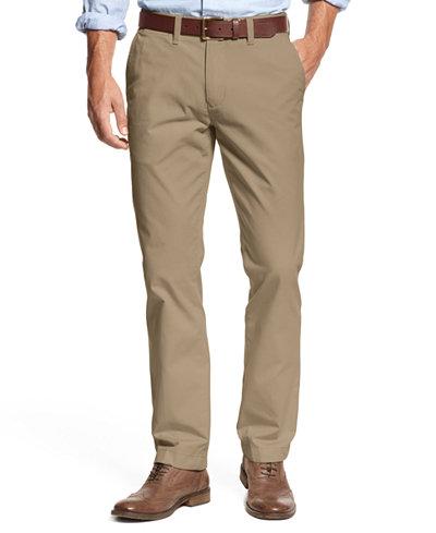 Tommy Hilfiger Men's Slim-Fit Stretch Chino Pants - Pants - Men ...
