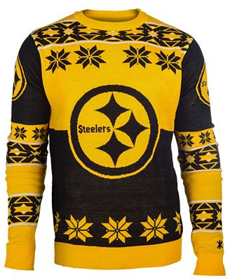 Forever Collectibles Mens Pittsburgh Steelers Big Logo Christmas