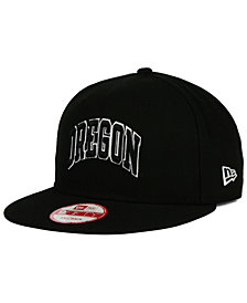 New Era Oregon Ducks Black White 9FIFTY Snapback Cap
