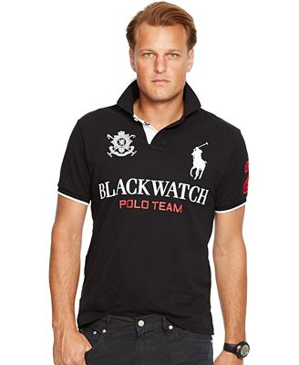 Polo Ralph Lauren Big Tall Black Watch Classic Fit Polo