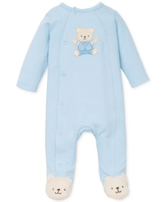 Baby Boys Cute Blue Bear Coverall