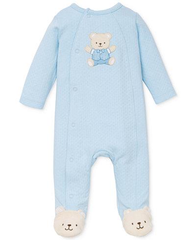 Little Me Baby Boys' Cute Blue Bear Coverall